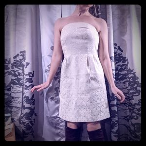 Champagne brocade mini dress